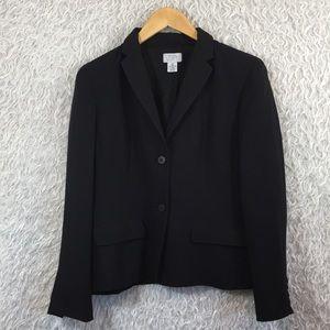 Ann Taylor Loft Black Blazer Sz 10 P